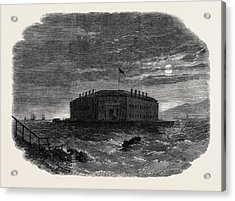 Fort Lafayette The Federal Bastille For Political Prisoners Acrylic Print by English School