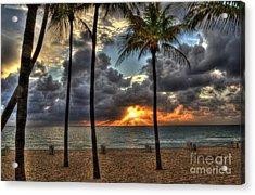 Fort Lauderdale Beach Florida - Sunrise Acrylic Print