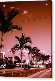 Fort Lauderdale Acrylic Print by Lee Farley