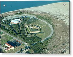 Fort Macon From The Air Acrylic Print by Dan Williams
