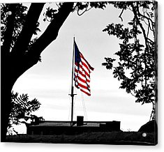 Fort Mchenry Flag Color Splash Acrylic Print by Bill Swartwout