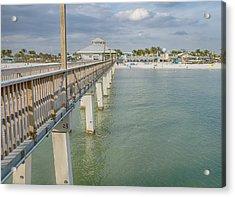 Fort Myers Beach Acrylic Print by Kim Hojnacki