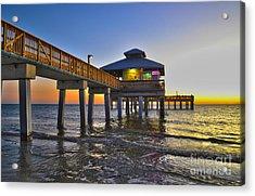 Fort Myers Beach Pier 3 Acrylic Print