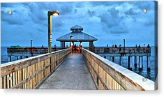 Acrylic Print featuring the photograph Fort Myers Beach Pier by Rosemary Aubut