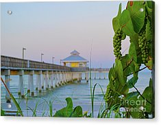 Acrylic Print featuring the photograph Fort Myers Beach Pier by Timothy Lowry