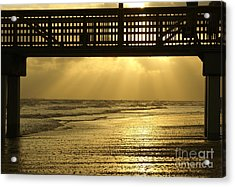 Fort Myers Golden Sunset Acrylic Print