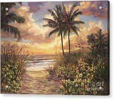 Fort Myers Sunset Acrylic Print by Laurie Hein