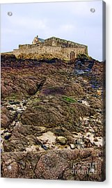 Fort National In Saint Malo Brittany Acrylic Print by Olivier Le Queinec