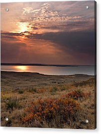 Fort Peck Lake Acrylic Print by Leland D Howard