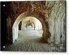 Acrylic Print featuring the photograph Fort Pickens Arches by Tom Brickhouse