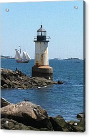 Fort Pickering Light Acrylic Print by Denyse Duhaime