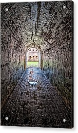 Fort Pike - Facing The Guns Acrylic Print by Andy Crawford
