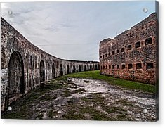 Fort Pike Parade Ground Acrylic Print by Andy Crawford