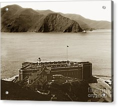 Fort Point And The Golden Gate San Francisco Circa 1890 Acrylic Print by California Views Mr Pat Hathaway Archives