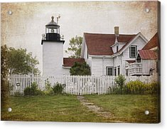 Fort Point Lighthouse Acrylic Print by Joan Carroll