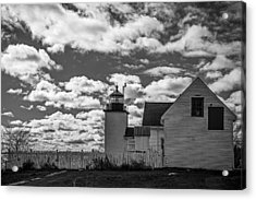 Fort Point Lighthouse Acrylic Print by Robert Clifford