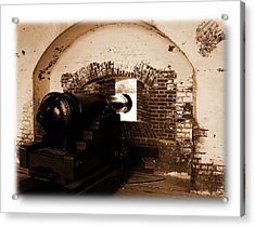 Acrylic Print featuring the photograph Fort Pulaski Canon Sepia by Jacqueline M Lewis