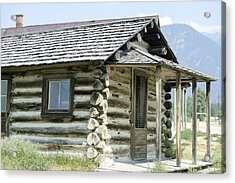 Acrylic Print featuring the photograph Fort Steele Cabin by Margaret Buchanan
