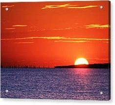Fort Story Sunrise Acrylic Print