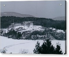 Fort Ticonderoga From Mount Independence Acrylic Print by David Fiske
