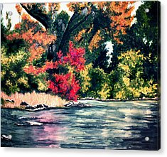 Fort Toulouse Tallapoosa River Flair Acrylic Print by Beth Parrish