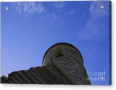 Acrylic Print featuring the pyrography Fort Tower by Chris Thomas