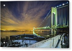 Fort Wadsworth And Verrazano Bridge Acrylic Print