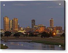 Fort Worth Skyline Golden Hour Acrylic Print