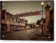 Fort Worth Stockyards Acrylic Print