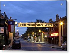 Fort Worth Stockyards Acrylic Print