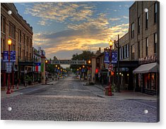 Fort Worth Stockyards Sunrise Acrylic Print