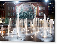 Fort Worth Sundance Square Aug 2014 Acrylic Print