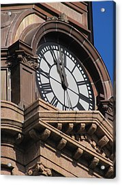Fort Worth Texas Courthouse Clock Acrylic Print by Shawn Hughes