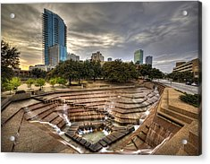 Fort Worth Water Garden Acrylic Print