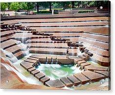 Fort Worth Water Garden V7 Acrylic Print