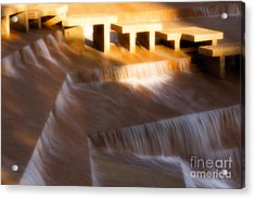 Fort Worth Water Gardens Steps Acrylic Print