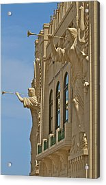 Fort Worth's Angels Acrylic Print by John Babis