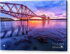 Forth Rail Bridge Stunning Sunrise Acrylic Print