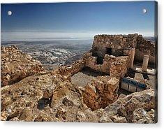 Fortress Of Masada Israel 1 Acrylic Print by Mark Fuller