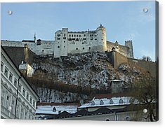 Fortress On The Hill Acrylic Print by Laura Watts