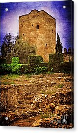 Fortress Tower Acrylic Print by Mary Machare