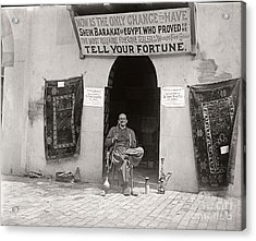 Acrylic Print featuring the photograph Fortune Teller San Francisco Exposition 1894 by Martin Konopacki Restoration