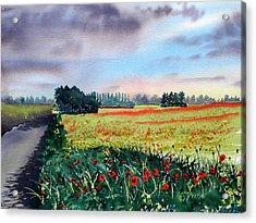Forty Acre Field Near Easingwold Acrylic Print