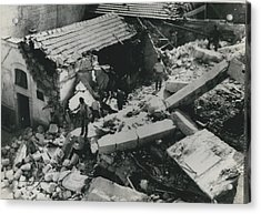 Forty Dead In Flats Collapse In Italy Acrylic Print by Retro Images Archive