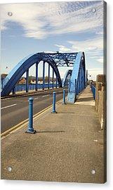 Foryd Bridge Acrylic Print by Christopher Rowlands