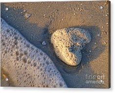 Acrylic Print featuring the photograph Found Heart by Peggy Hughes