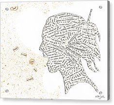 Found Poetry Silhouette Acrylic Print by Nikki Marie Smith