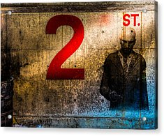 Foundation Number 2st Acrylic Print by Bob Orsillo