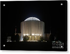 Founders Hall At Night Acrylic Print