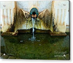 Fountain At Andersonville Acrylic Print by Sally Simon
